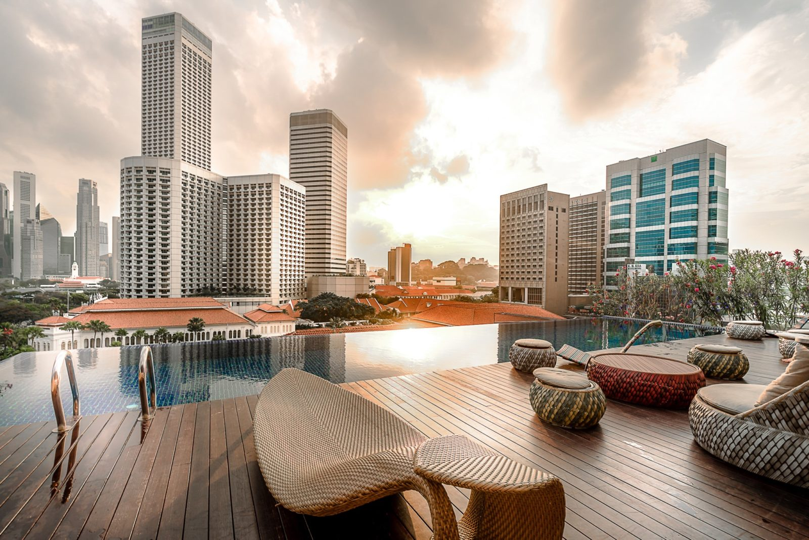 infinity pool with view naomi hotel singapore