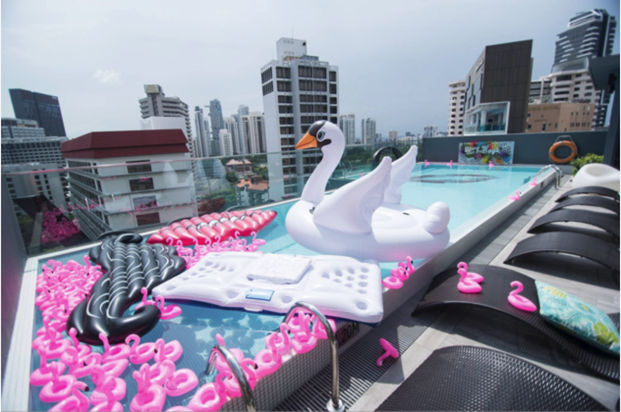 Rooftop Pool 21st Birthday Party Venue Event Space Venuerific Oakwood Studios Singapore
