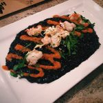 must-go-restaurant-venuerific-blog-in-italy-squid-ink-risotto-with-gold