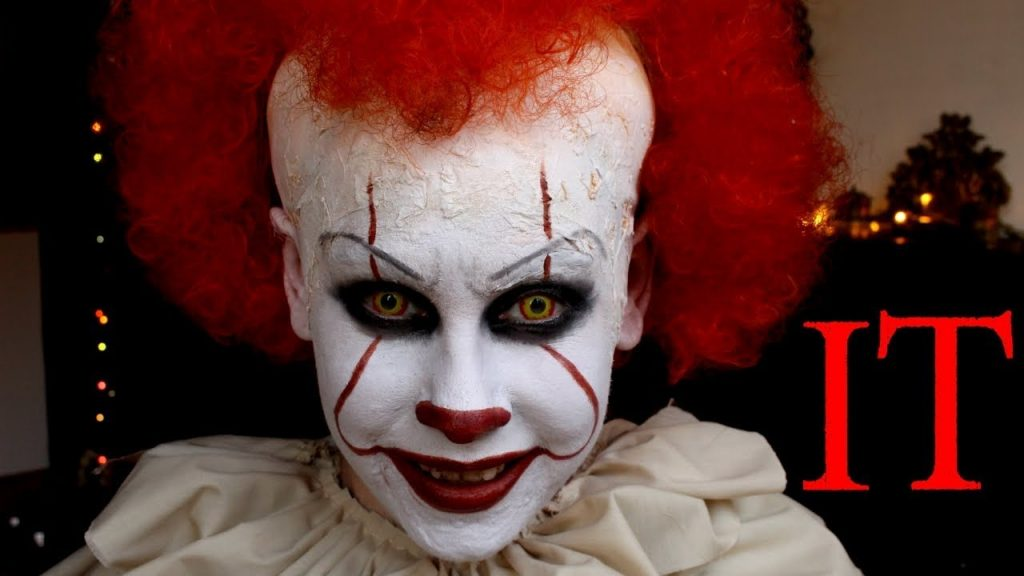 Halloween-costume-ideas-venuerific-blog-pennywise-face-makeup