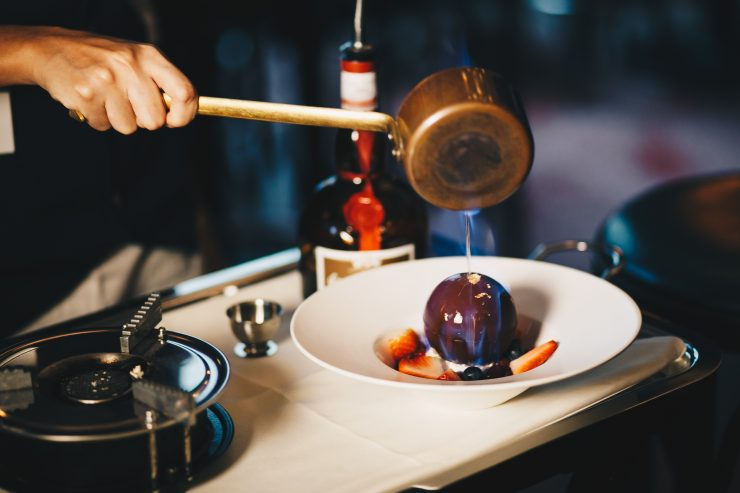 The Blackswan fireball dessert your client will definitely love and would be impress