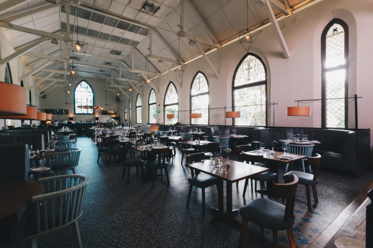 Dining at old, unique and beautiful Chapel to Impress Clients
