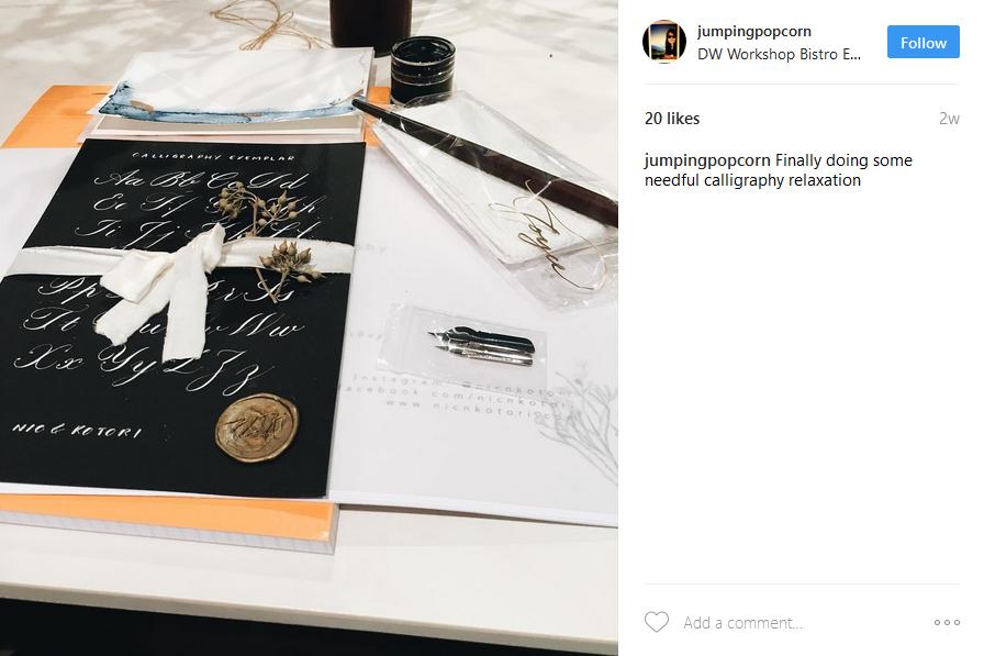 instagram-worthy-places-venuerific-DW-workshop-calligraphy