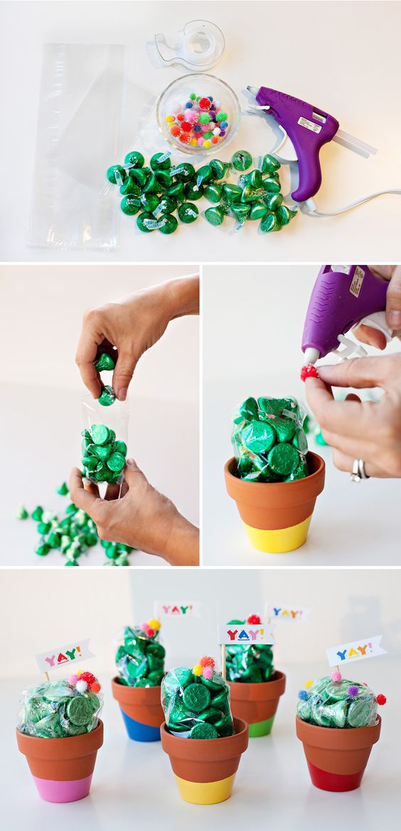 artificial plants idea for baby shower decoration and gift