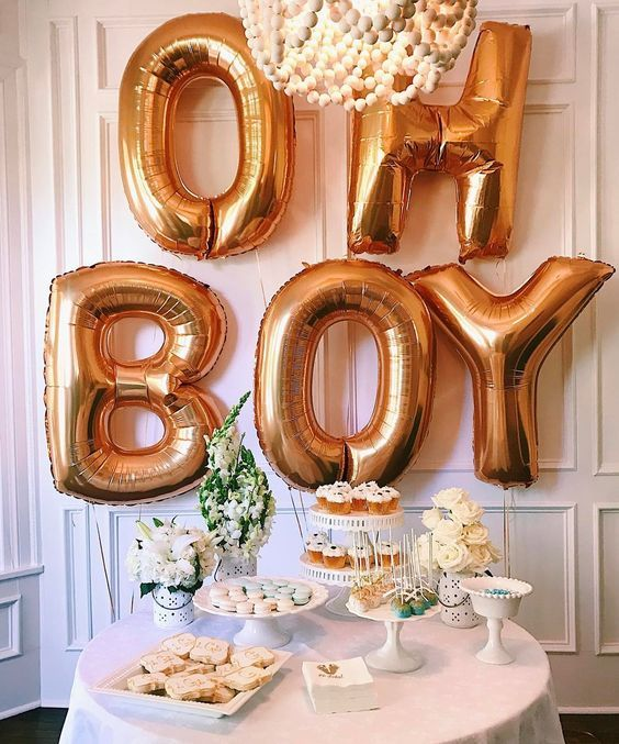 oh boy! baby shower decoration and inspiration