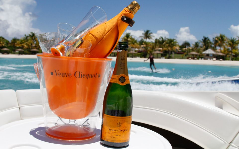 champagne for bridal shower beach party