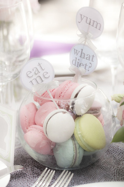 tasty macaroon baby shower food idea