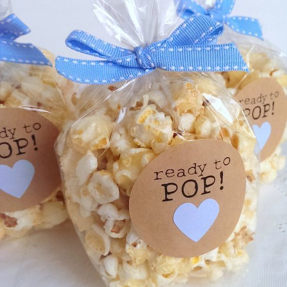 salty and sweet popcorn for baby shower light food idea