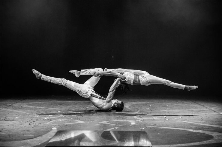 Circus Abyssinia Act in black and white for Christmas Wonderland