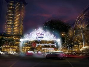 Artist Impression of Christmas on a Great Street in the roads of Singapore