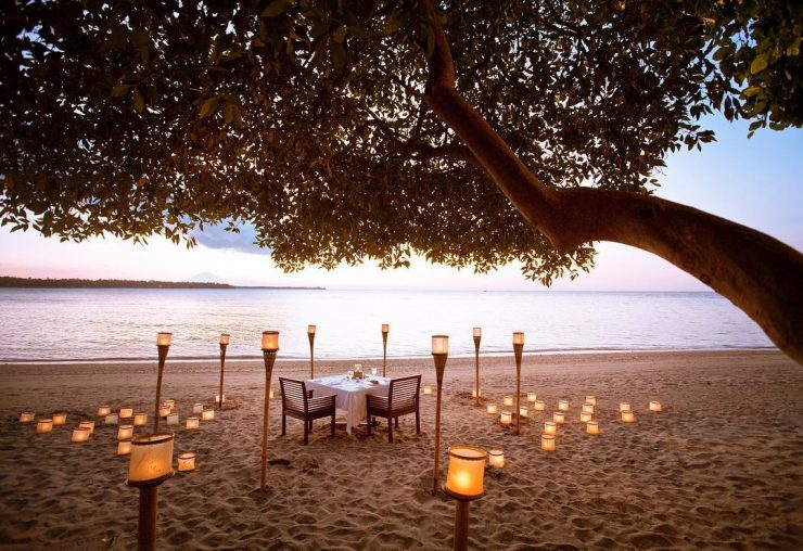 The Oberoi Lombok beachside dinner
