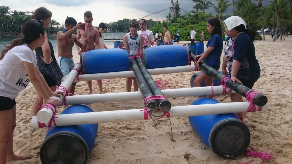 unique-team-bonding activities-venuerific-blog-DIY-go-kart-raft-team-building