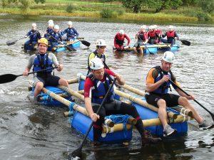 unique-team-bonding activities-venuerific-blog-DIY-go-kart-raft-activity