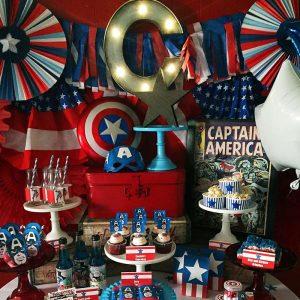 Kids-birthday-venuerific-blog-avengers-themed-party-setup
