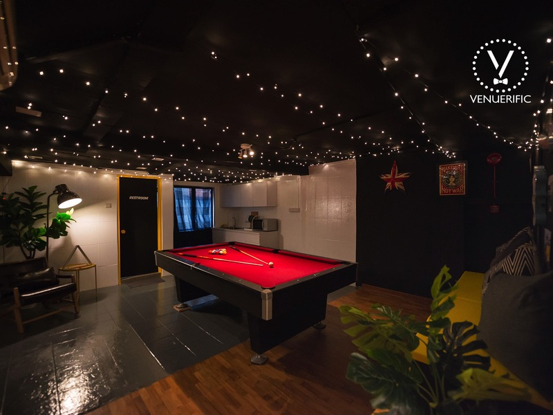 An indoor venue with games and pool for rent for 21st Birthday Party in Singapore 2018