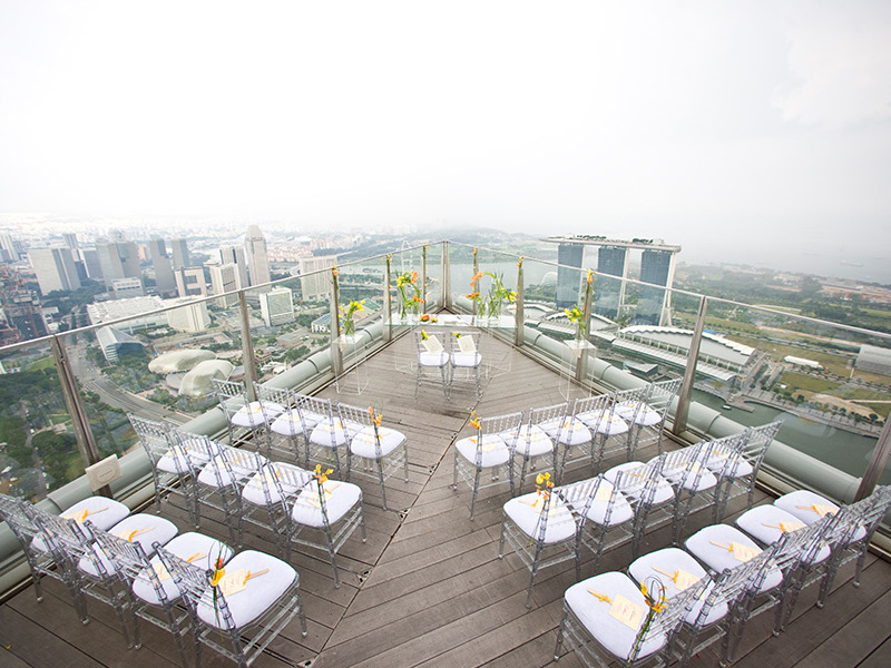 Outdoor event space at the highest bar of Singapore, One-Altitude