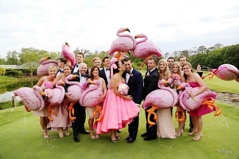 A creative and colorful idea for a themed wedding in Singapore