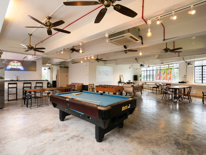 Singapore event space with games