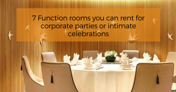 Function rooms you can rent for corporate parties or intimate celebrations