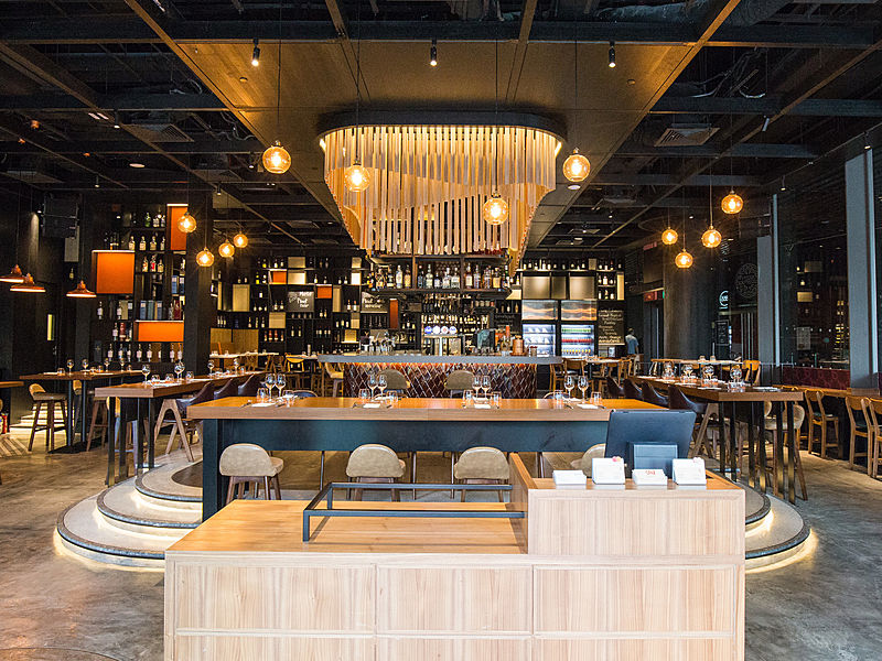 Trendy and modern bar for hangout and dinner