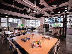 event space with game board Singapore