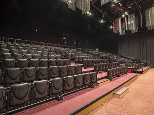 huge and affordable auditorium with red carpet