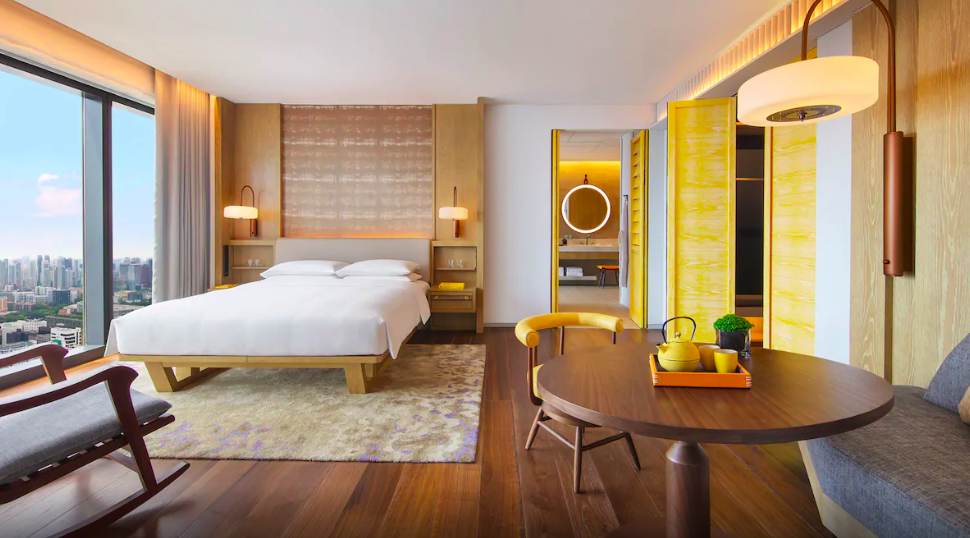 modern and chic hotel room andaz singapore
