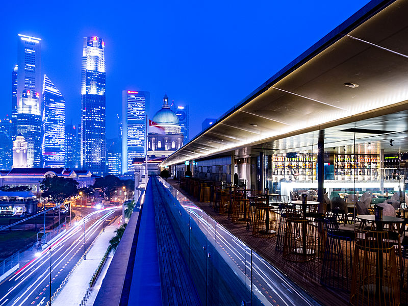 Venuerific venue, Panoramic view and elegant ambience at Aura, Singapore