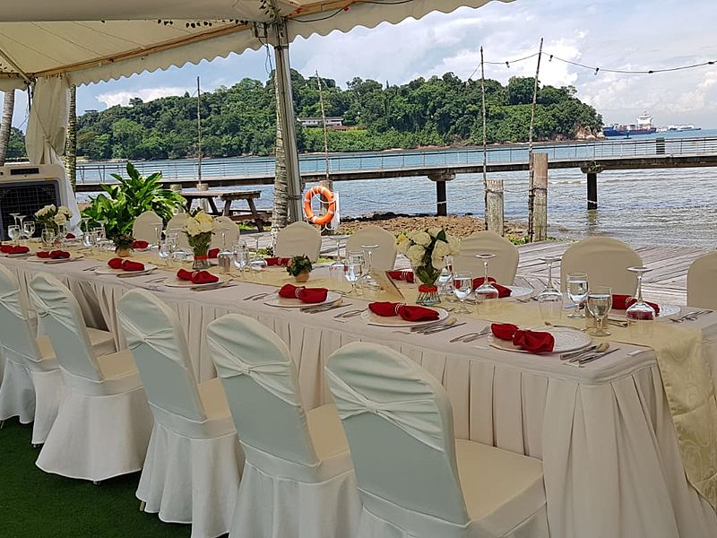 Venuerific venue, beautiful see view at Keppel Club Singapore
