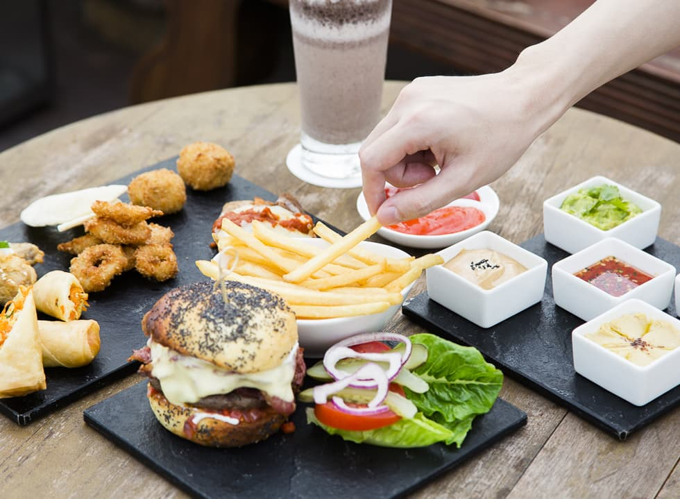 Delicious western food from La'Vue The Hermitage jakarta