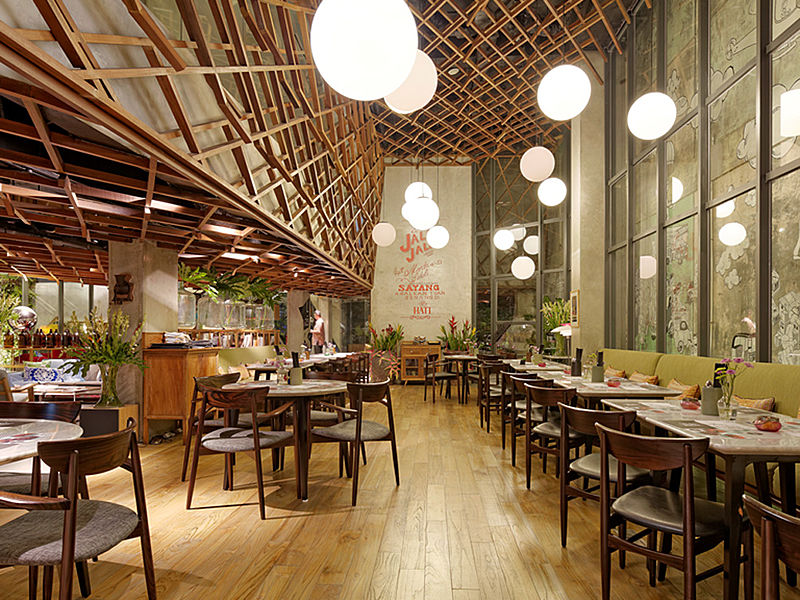 cozy restaurant with unique interior waha kicthen jakarta