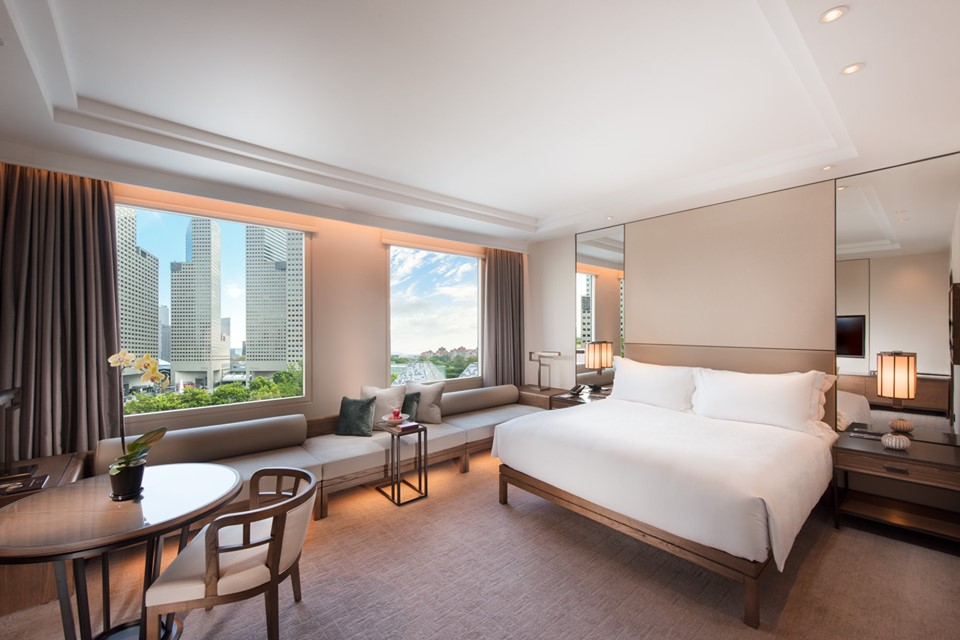 modern refurbished room from conrad centennial singapore