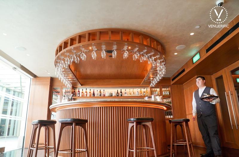 modern wooden bar conrad centennial singapore
