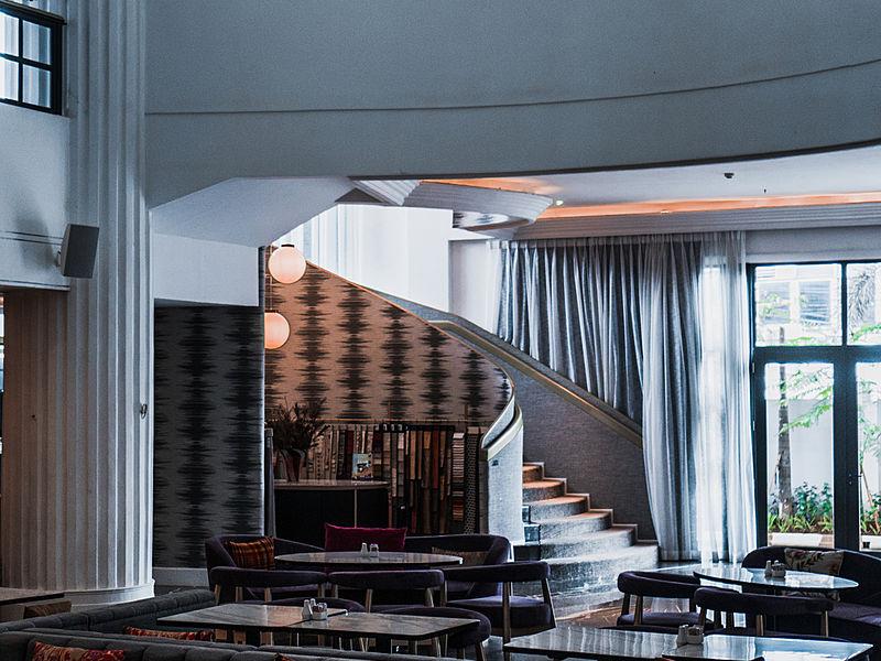 unique design interior of gallery lounge