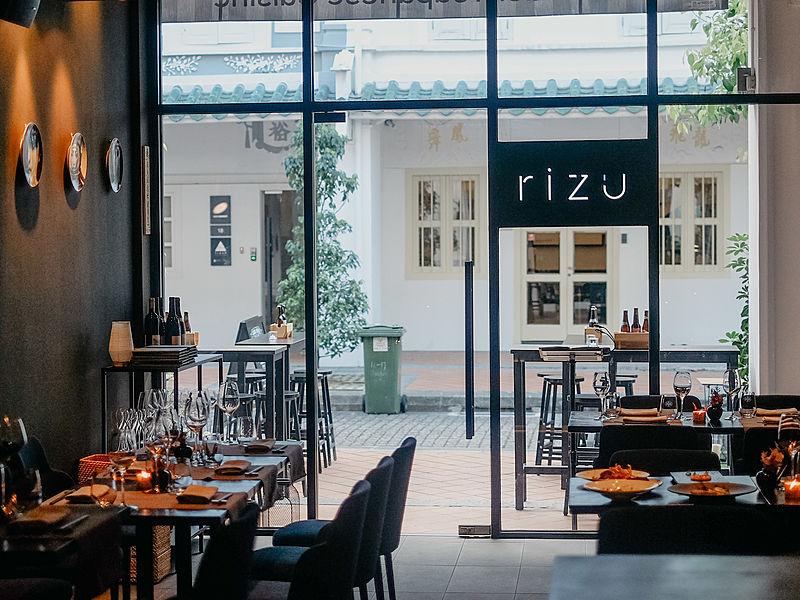 rizu modern japanese restaurant in singapore