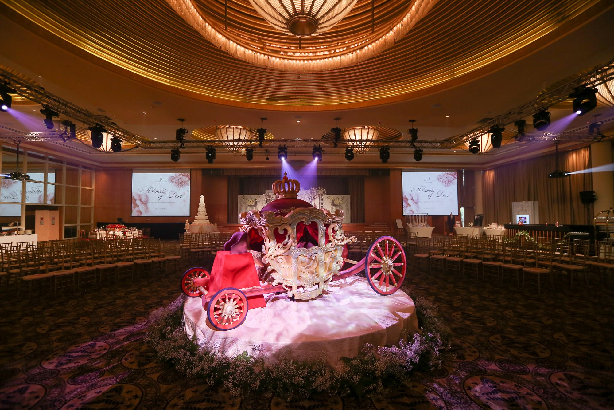 The Ritz Carlton Millenia Singapore wedding fairy tale decoration