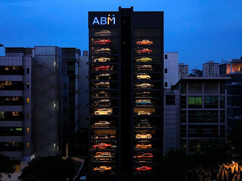 unique event space with luxurious sport cars building singapore