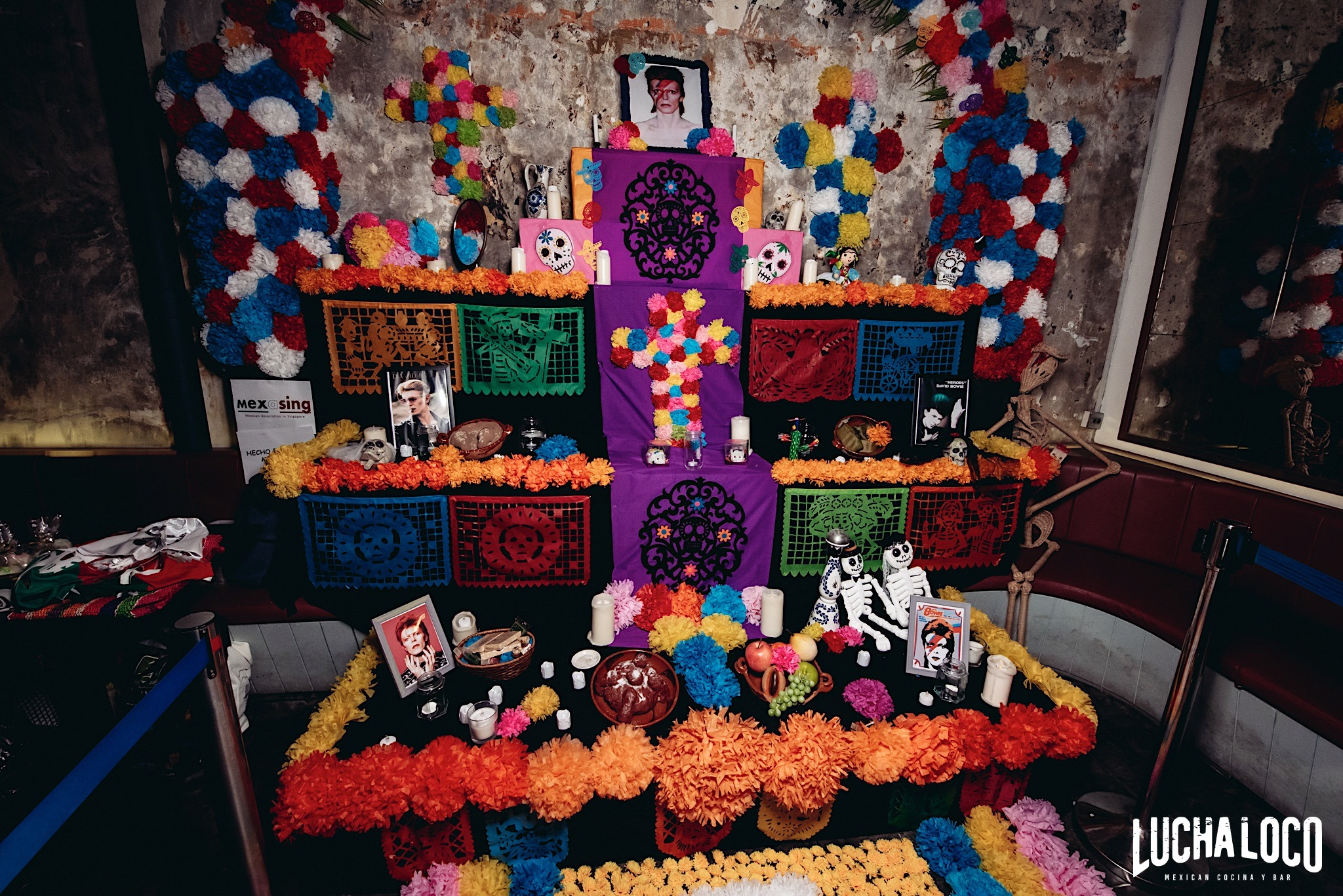 day of the dead party, lucha loco, halloween party singapore, venuerific