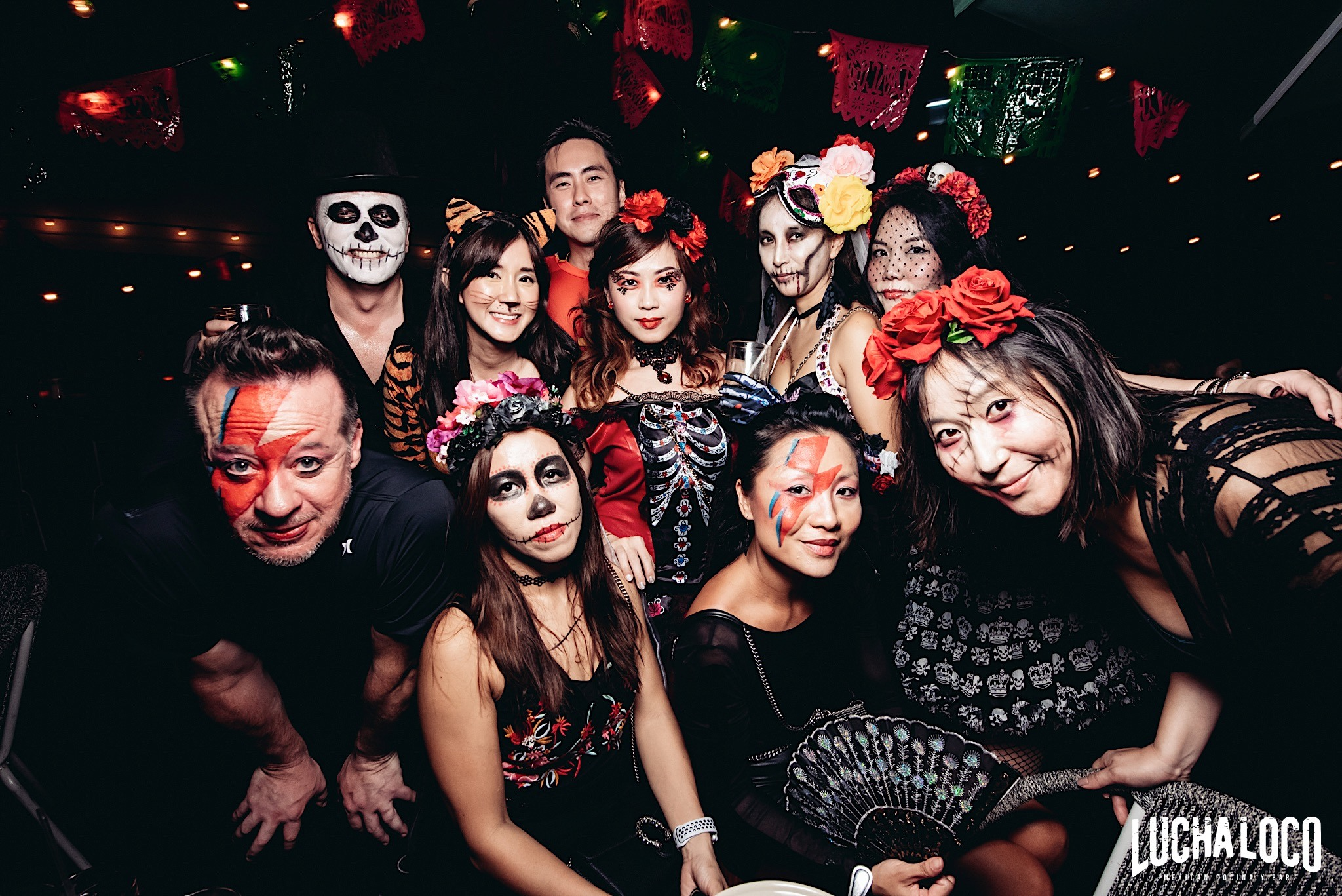 day of the dead party, lucha loco, halloween party singapore, mexican bar, venuerific