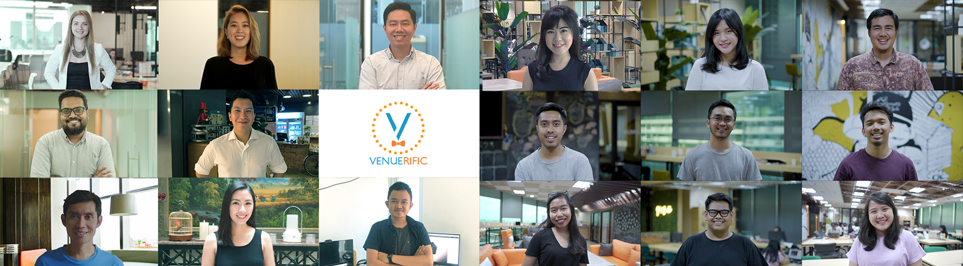 all Venuerific team members singapore indonesia