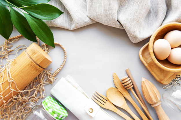 beautiful reusable tableware made from wood