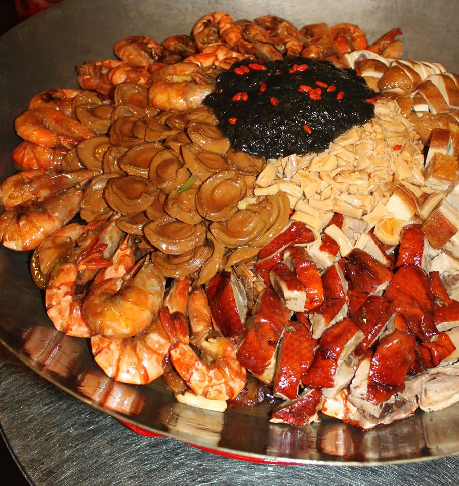 seafood and paking duck food for celebration