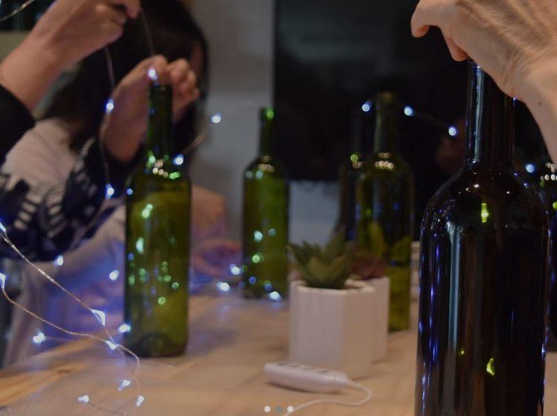 glass bottle led lamp