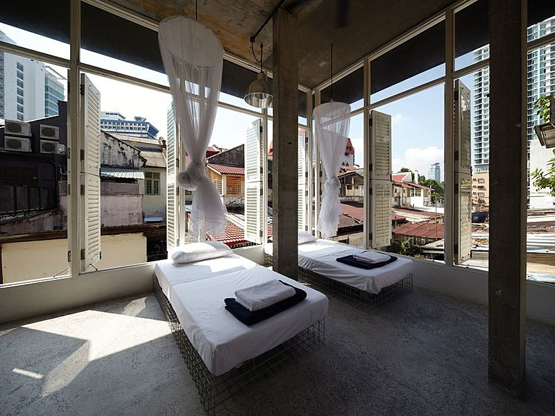 airy venue for relaxation