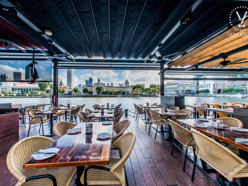 Dallas Boat Quay riverfront view restaurant