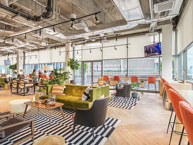 bright, lively coworking space at KL Eco city