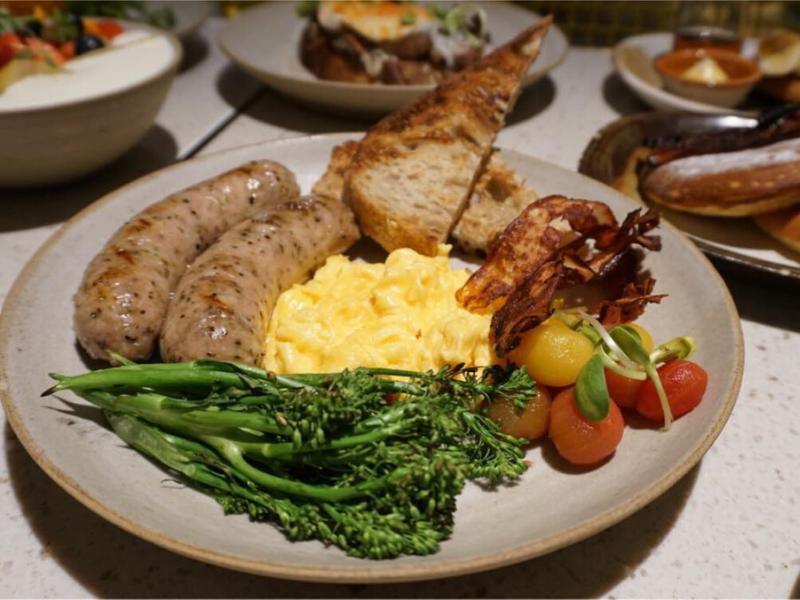 amazing brunch plate at plentyfull with kurobuta sausages
